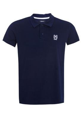 Camisa Polo [R]ONE Bordado Marca Azul