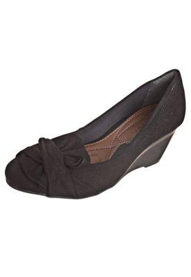 Sapato Scarpin Ramarim Total Comfort Anabela Meio Laço Pret...