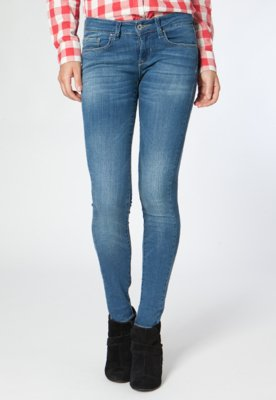 Calça Jeans MNG Barcelona Skinny Olivia Azul