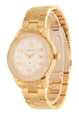 Relógio Lince LRGK015L B2KX Branco Dourado