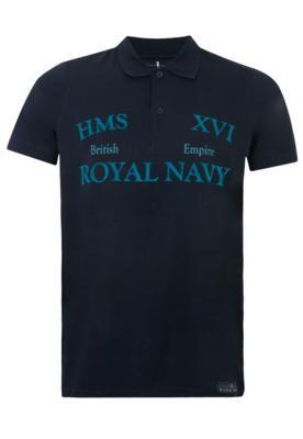 Camisa Polo Pier Nine British Azul