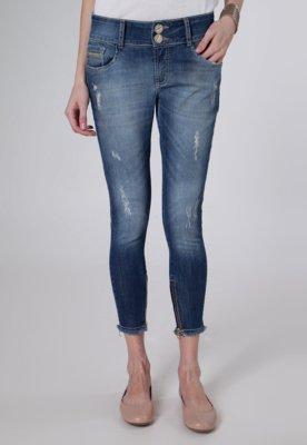 Calça Jeans Lança Perfume Cropped Skin Azul