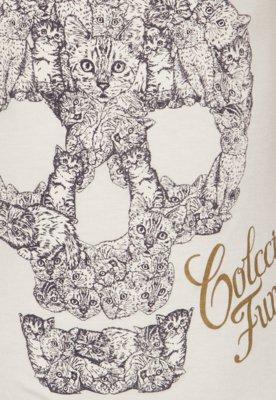 Blusa Colcci Fun Comfort Skull Bege