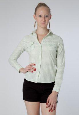 Camisa Pink Connection Bolso Xadrez