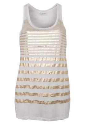 Blusa Shop 126 Stripes Glam Bege