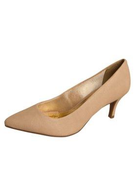 Sapato Scarpin Azaleia Salto Médio Bico Fino Bege