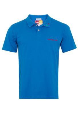 Camisa Polo Brasil Bordado Azul - Coca Cola Clothing