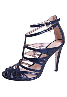 Sandália Gladiadora Salto Azul - Luiza Barcelos