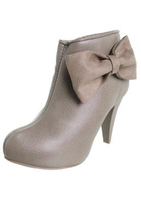 Ankle Boot Dijean Laço Bege