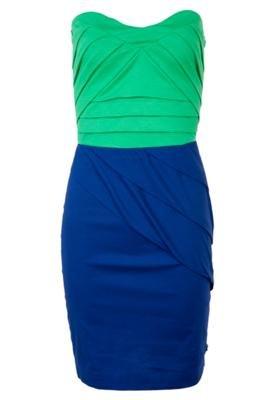 Vestido Small Dobras Verde/Azul - Coca Cola Clothing