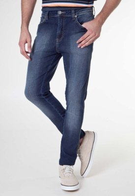 Calça Jeans Cavalera Super Skinny Masculina Antônio Azul
