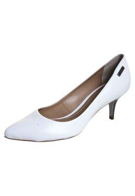 Sapato Scarpin Dumond Salto Baixo Bico Fino Branco