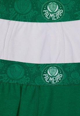Kit 02 Cuecas Palmeiras Boxer Branco/Verde - Licenciados Fut...