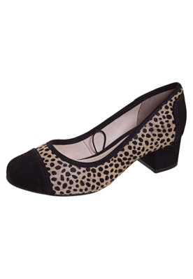 Sapato Scarpin Salto Baixo Onça - Bottero