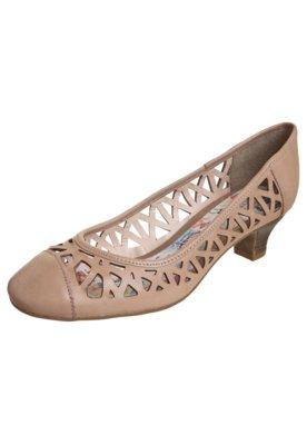 Sapato Scarpin Bottero Vazado Salto Baixo Bege