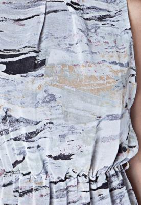 Vestido FiveBlu Abstract Cinza