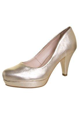 Sapato Scarpin Bottero Salto Médio Meia Pata Dourado