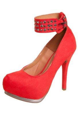 Sapato Scarpin Vizzano Pulseira Hotfix Vermelho