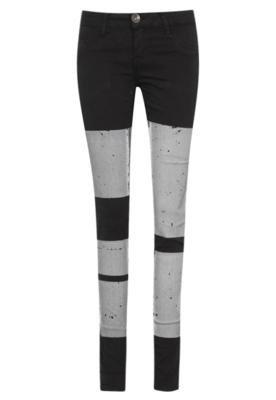 Calça Jeans Skinny Espaço Fashion Urbana Preta