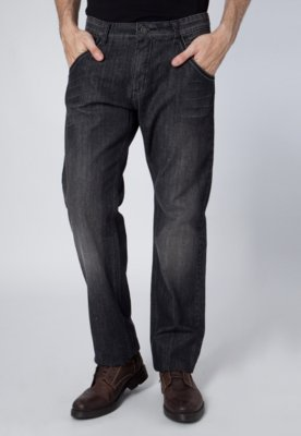 Calça Jeans Reta Pier Nine Rock Preta