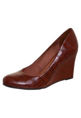 Sapato Scarpin Anna Flynn Casual Textura Vermelha