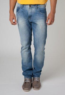 Calça Jeans Forum Paul Skinny Pespontos Azul