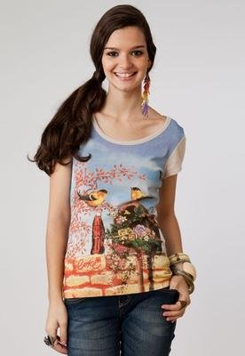 Blusa Andorinha Bege - Coca Cola Clothing