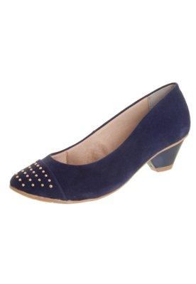 Sapato Scarpin Crysalis Color Cravos Azul