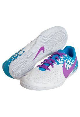 Chuteira Futsal Nike 5 Elastico II Branco/Azul
