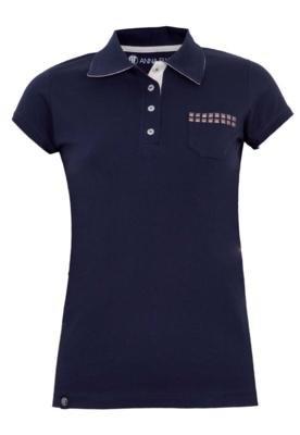 Camisa Polo Anna Flynn Bolso Azul