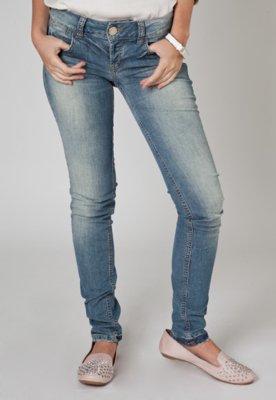 Calça Jeans Colcci Paetês Azul