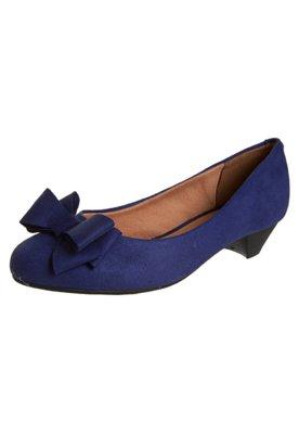 Sapato Scarpin Vizzano Salto Baixo Laço Azul