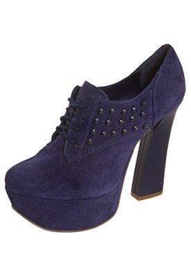 Ankle Boot Amarração Azul - Lilly's Closet