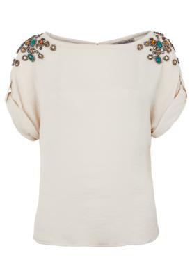 Blusa Shoulder Pedrarias Bege