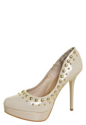Sapato Scarpin Nightstar Cravos Bege