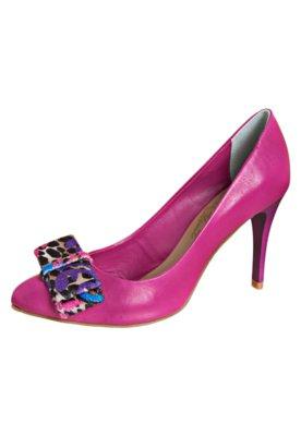 Sapato Scarpin Laço Veludo Rosa - Lilly's Closet