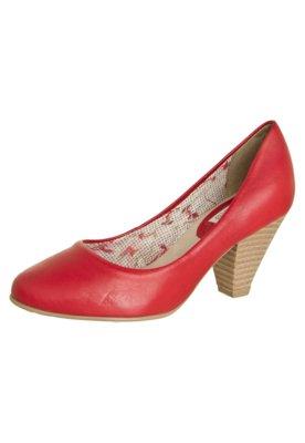 Sapato Scarpin Bottero  salto médio básico Vermelho