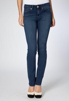 Calça Jeans Iódice Denim Reta Donna Jet Slim Fit Azul
