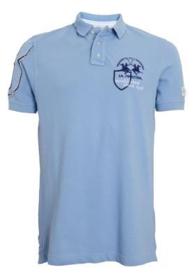 Camisa Polo La Martina Mínima Azul