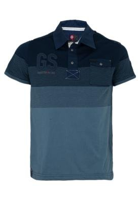 Camisa Polo Gangster Hot Cold Azul