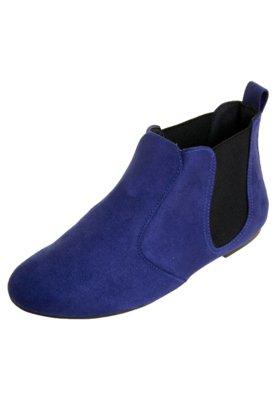 Bota Recortes Azul - Moleca