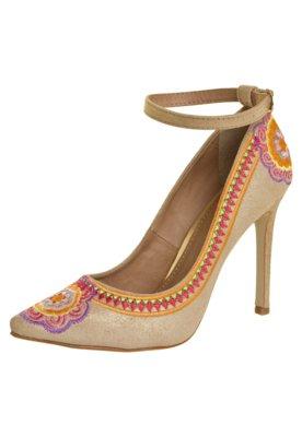 Sapato Scarpin FiveBlu Platino Bege