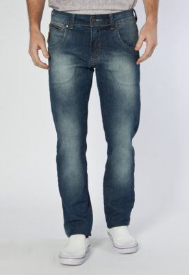 Calça Jeans Coca Cola Clothing Reta Hall Azul