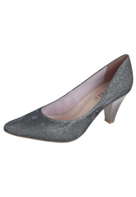 Sapato Scarpin FiveBlu Shine Cinza
