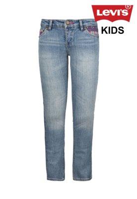 Calça Jeans Levi's Kids Skinny Hippie Azul