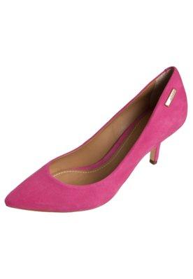 Sapato Scarpin Dumond Salto Médio Bico Fino Rosa
