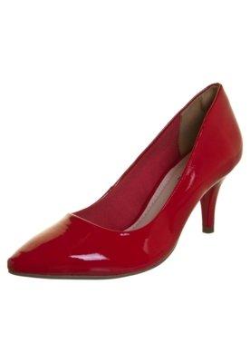 Sapato Scarpin Via Marte Básico Verniz Vermelho