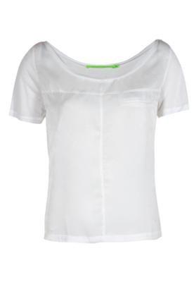 Blusa Recorte Branco - Espaço Fashion