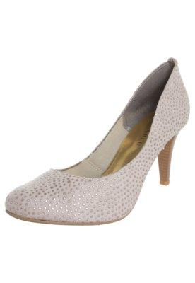 Sapato Scarpin FiveBlu Pontos Metalizados Cinza
