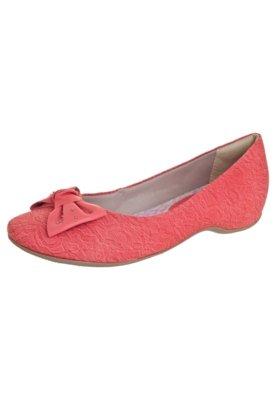 Sapato Scarpin Comfortflex Salto Embutido Laço Rosa